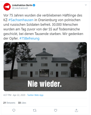 Sachsenhausen twitter